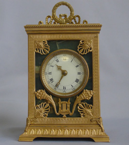 Antique French Napoleon III Ormolu and Fleurospar Carriage Clock signed Ed. Chartier, Paris