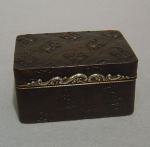 Pressed tortoiseshell and silver  18th century box