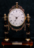Antique tortoiseshell, silver gilt and Jewelled Clock