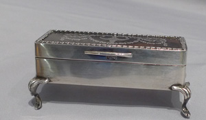 Antique silver and tortoiseshell and silver piquet box