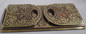 Antique English Victorian Boulle book slide.
