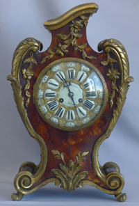 Antique Tortoiseshell and Ormolu bracket clock signed by Martinot