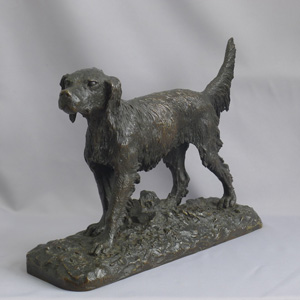 Rare early First cast Antique animalier bronze of an irish setter by Fratin