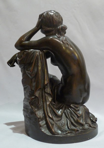 Aime Millet bronze nude of young woman