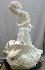 Antique Italian marble sculpture signed Francesco Garjavini sculpt 1877.