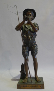 Antique bronze sculpture of