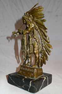 Carl Kauba bronze of a Red Indian chief entitled