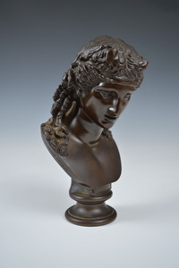 Fine Antique Barbedienne cast bust of a classical woman.