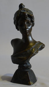 Antique Villanis bronze of Aida, signed and with foundry stamp and numbered.