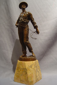 Art Deco bronze of Young Man.
