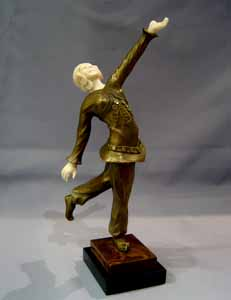 Art Deco Bronze and Ivory figure of a Russian dancer.