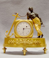 Miniature Empire pendule au negre or blackamoor clock