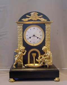 Antique French Empire clock by Roche a Marseille.