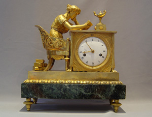 French Empire mantel clock of