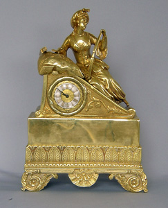 Small, Orientalist French ormolu clock of interest to Greek Revolution collectors