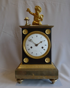 Superb antique Directoire mantel clock by G. Dubois and dated AN 9.