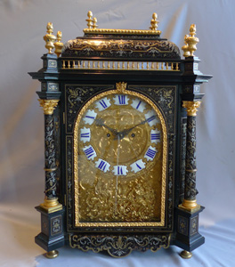Antique  English boulle clock by Frodsham clockmaker to Queen Victoria.