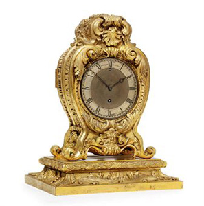 ORMOLU EIGHT DAY TIMEPIECE MANTEL CLOCK 