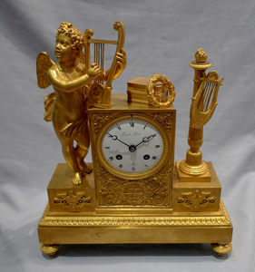 Antique French Empire mantel clock signed Picnot Pere a Paris.