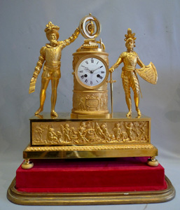 Antique  French Empire ormolu mantel clock celebrating Francois 1er France's rennaissance King.