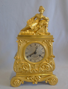 Antique French Greek Revolutiom ormolu mantel clock.