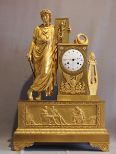 Antique and massive Royal Provenance ormolu French Empire clock.