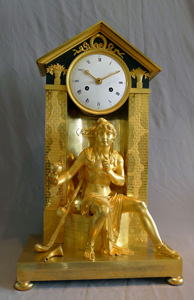 Antique French Empire clock depicting the Judgement of Paris.