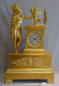 Antique French Charles X period ormolu cased mantel clock.
