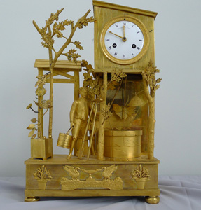 Antique French Empire genre clock