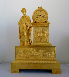 Large French Charles X period ormolu clock representing Ceres.