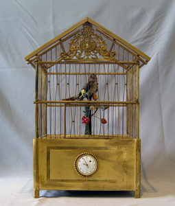 Singing bird cage signed Bontems.