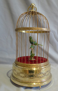French singing bird cage by Bontems of Paris..