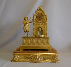 Antique automaton clock, French in the Gothic style.