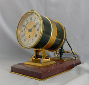 Antique Industrial Series mantle clock modelled as a ship's carronade.