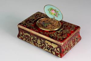 Antique Silver Gilt & Tortoiseshell Sarcophagus Singing Bird Box by E. Flajoulet retailed by Juvenia