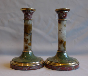 Pair English candlesticks.